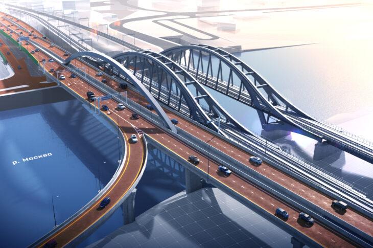 В районе московского «Сити» откроют ассиметричный арочный мост