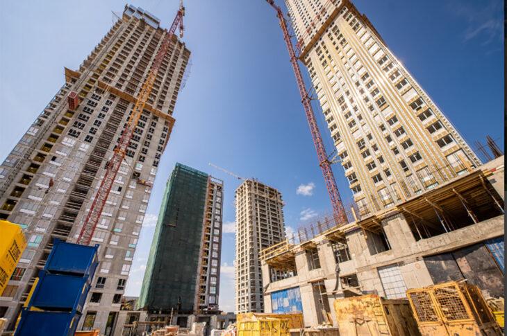 Во второй очереди ЖК «Павелецкая Сити» в Москве залили первый куб бетона