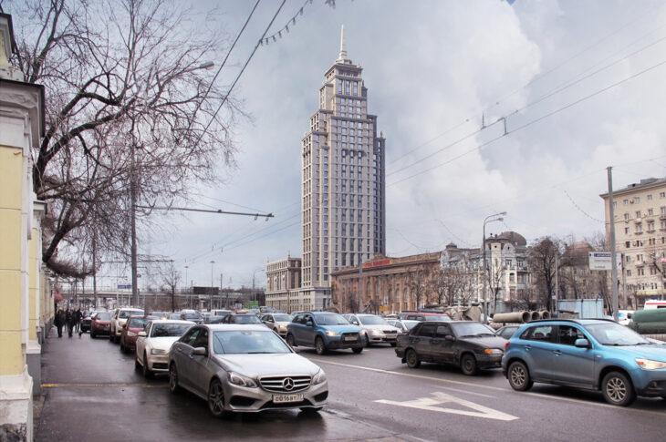 Возводится многофункциональный небоскреб Alcon Tower на Ленинградском проспекте