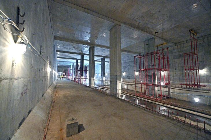 Строящаяся станция метро «Лианозово» готова на четверть
