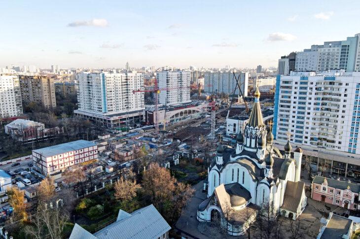 Началось благоустройство у станции БКЛ метро «Сокольники»