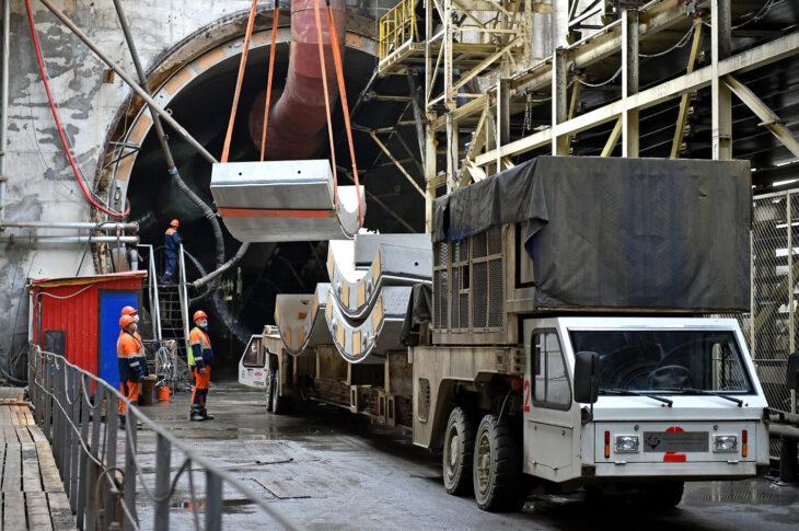 Станция «Кленовый бульвар» БКЛ готова более чем наполовину