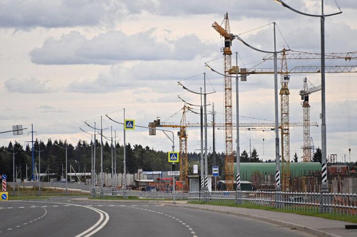 Участок трассы «Солнцево-Бутово-Варшавское шоссе» готов на 35%